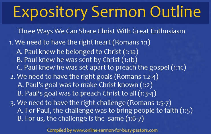 Expository Sermon Outline